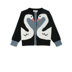 STELLA MCCARTNEY KIDS Cardigan con cigni neonata