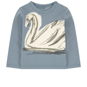 STELLA MCCARTNEY KIDS T-shirt stampa cigno