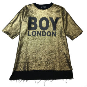 Felpa oro bambina boy london