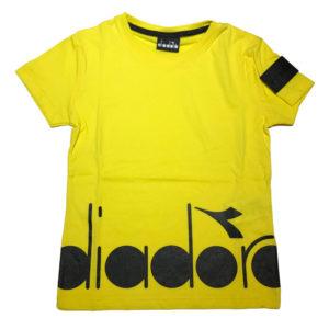 T-shirt gialla diadora bambino