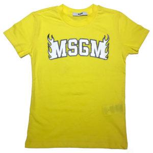 T-shirt gialla msgm bambino