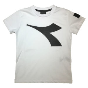 T-shirt bianca diadora bambino