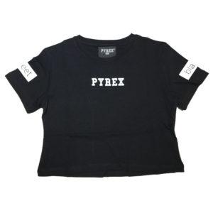 T-shirt corta nera pyrex bambina