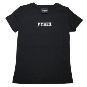 T-shirt nera pyrex bambino