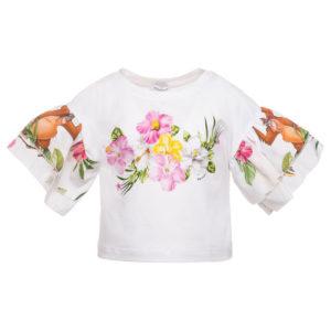 t-shirt stampa giungla monnalisa