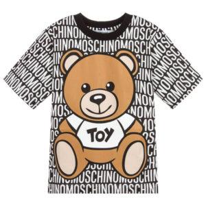 T-shirt loghi bambina moschino