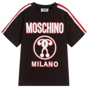 T-shirt logo moschino bambino