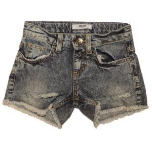 Shorts jeans bambina msgm