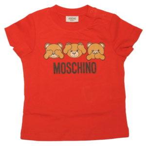 T-shirt rossa neonato moschino