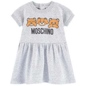 Vestito grigio neonata moschino