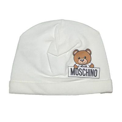 Cappello panna neonato moschino