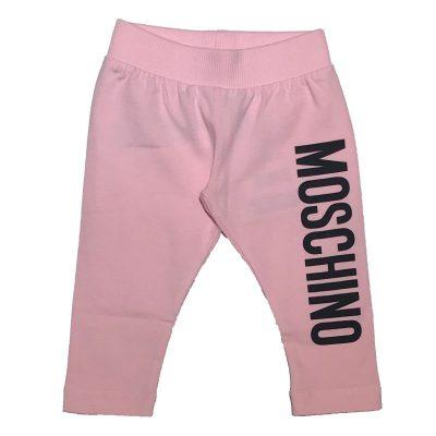 Leggings rosa neonata moschino