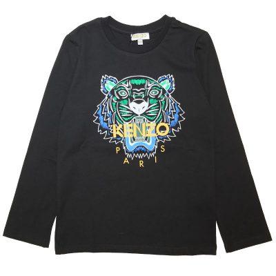T-shirt nera tigre kenzo bambino