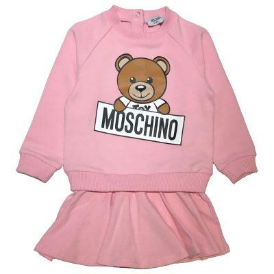 Vestito rosa neonata moschino