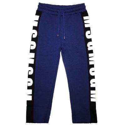 Pantalone felpa blu msgm bambino