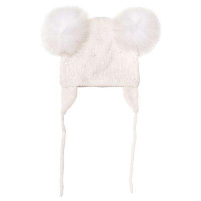 Cappello pom pon monnalisa neonata
