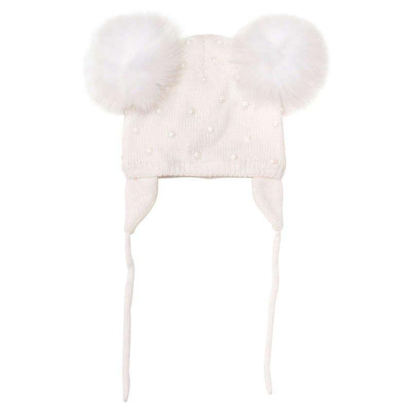Cappello pom pon monnalisa neonata ... 01d9176fb27f