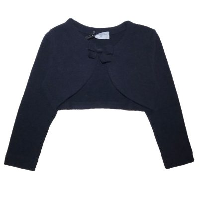 copri spalle blu neonata monnalisa