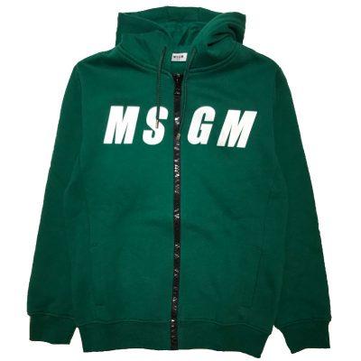 Felpa verde msgm bambino