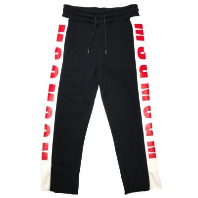 Pantalone felpa nero msgm bambino