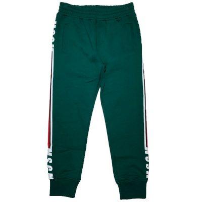 Pantalone felpa verde msgm bambino