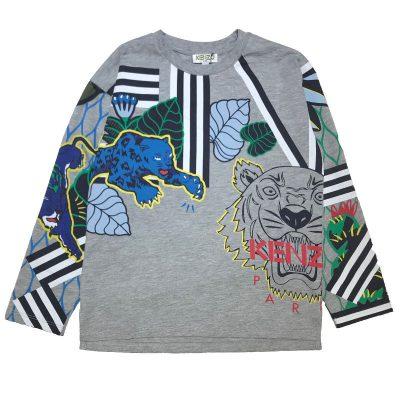 T-shirt grigia bambino kenzo