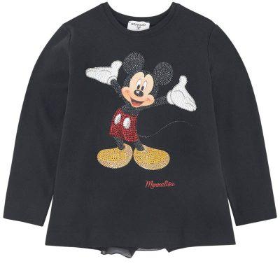T-shirt nera Topolino monnalisa