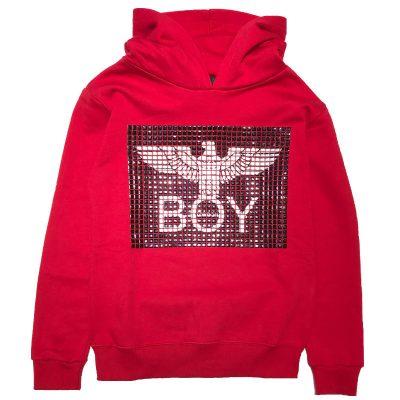 Felpa rossa boy london bambino