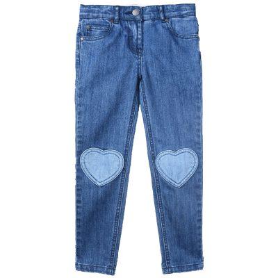 jeans cuori bambina stella mccartney
