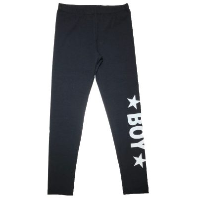 Leggings nero boy london bambina