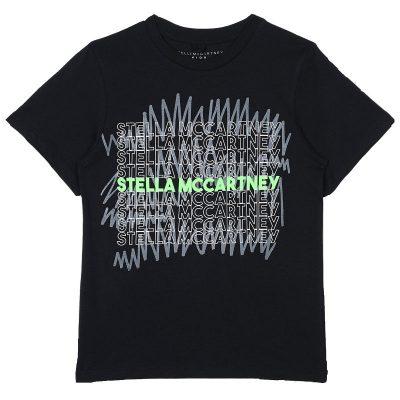 T-shirt nera stella mccartney bambino