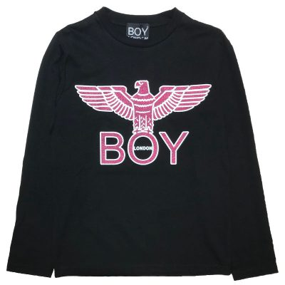 T-shirt nera boy london bambina