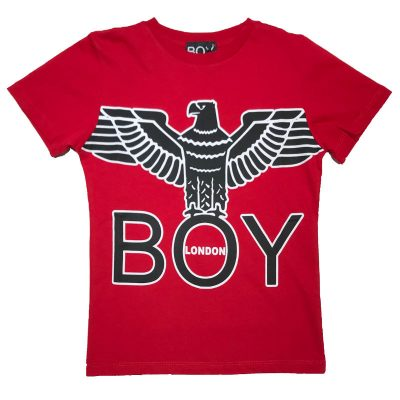t-shirt rossa boy london bambino