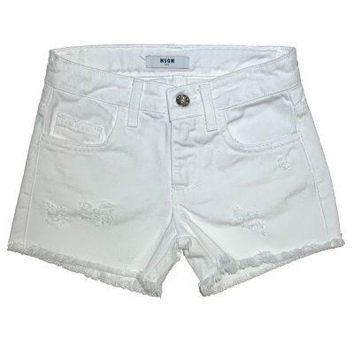 Shorts bianco msgm bambina