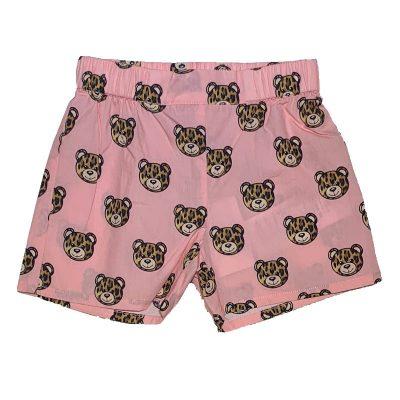 Shorts rosa neonata moschino