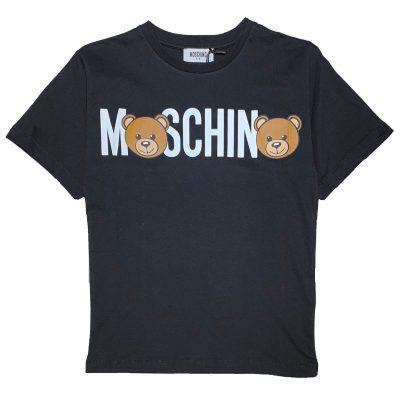 T-shirt nera moschino kids
