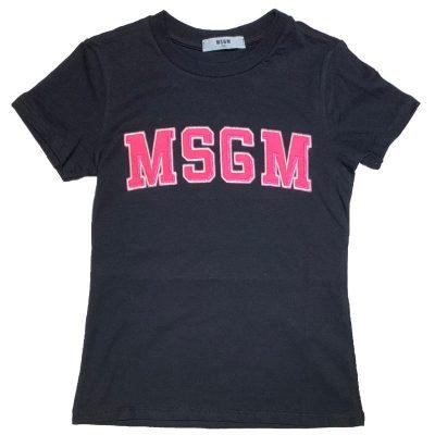 T-shirt nera msgm bambina