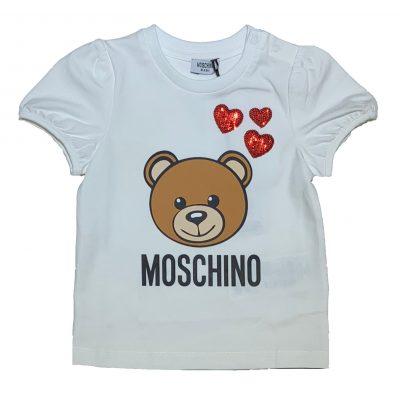 T-shirt orsetto neonata moschino