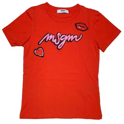 T-shirt rossa msgm bambina
