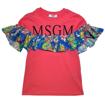 T-shirt rouche bambina msgm