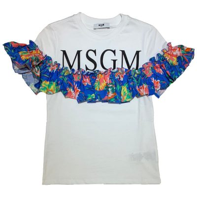 T-shirt rouche msgm bambina