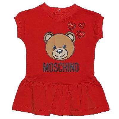 Vestito rosso neonata moschino