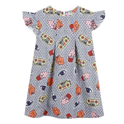 Vestito stampe kenzo bambina