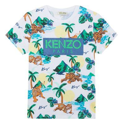 T-shirt giungla kenzo bambino