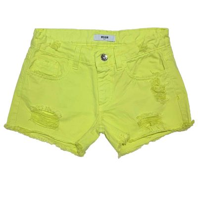 Shorts giallo msgm bambina