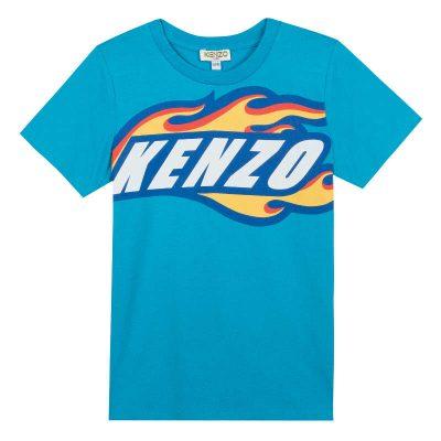 T-shirt fiamme kenzo bambino