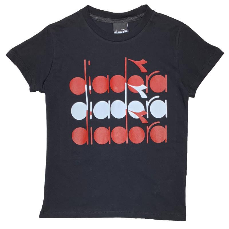 DIADORA T shirt Nera con Stampa