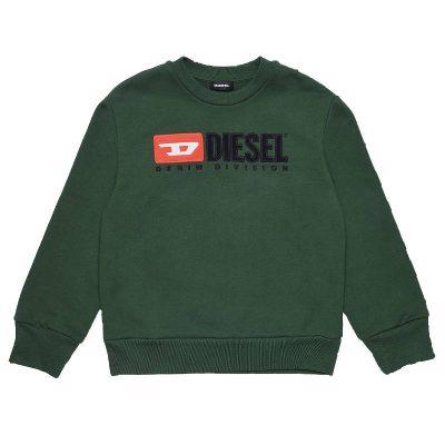 felpa diesel bambino verde