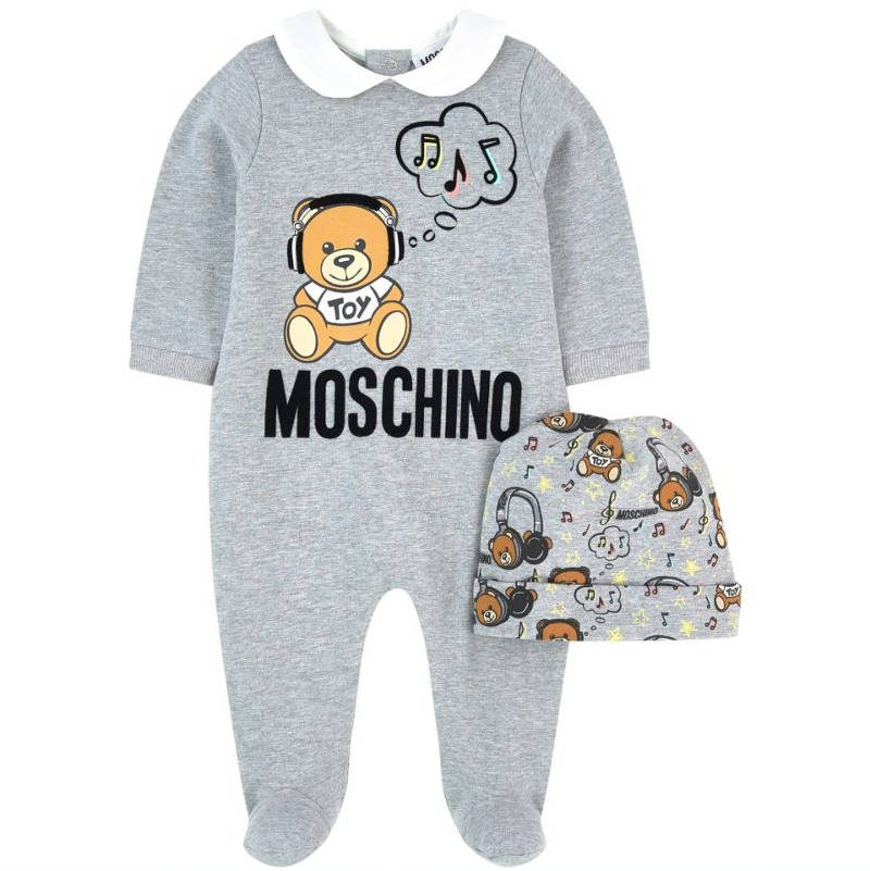new products 0bbc4 2a007 MOSCHINO BABY - Set Grigio