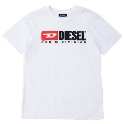 T-shirt bianca diesel bambino